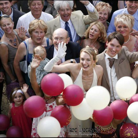 photo groupe au ballon