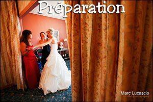 Galeries photos mariage préparation