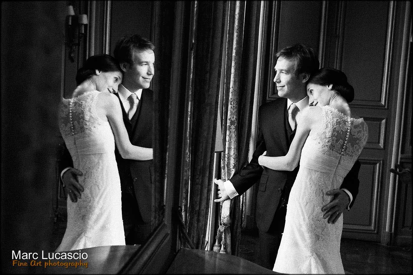 photo de couple dans le miroir