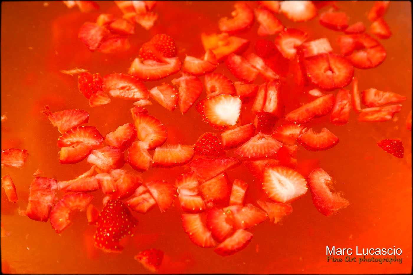 gros plan sur le cocktail fraises