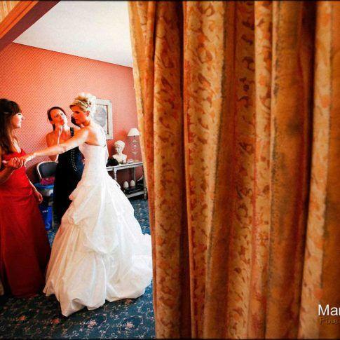 préparation photo mariage
