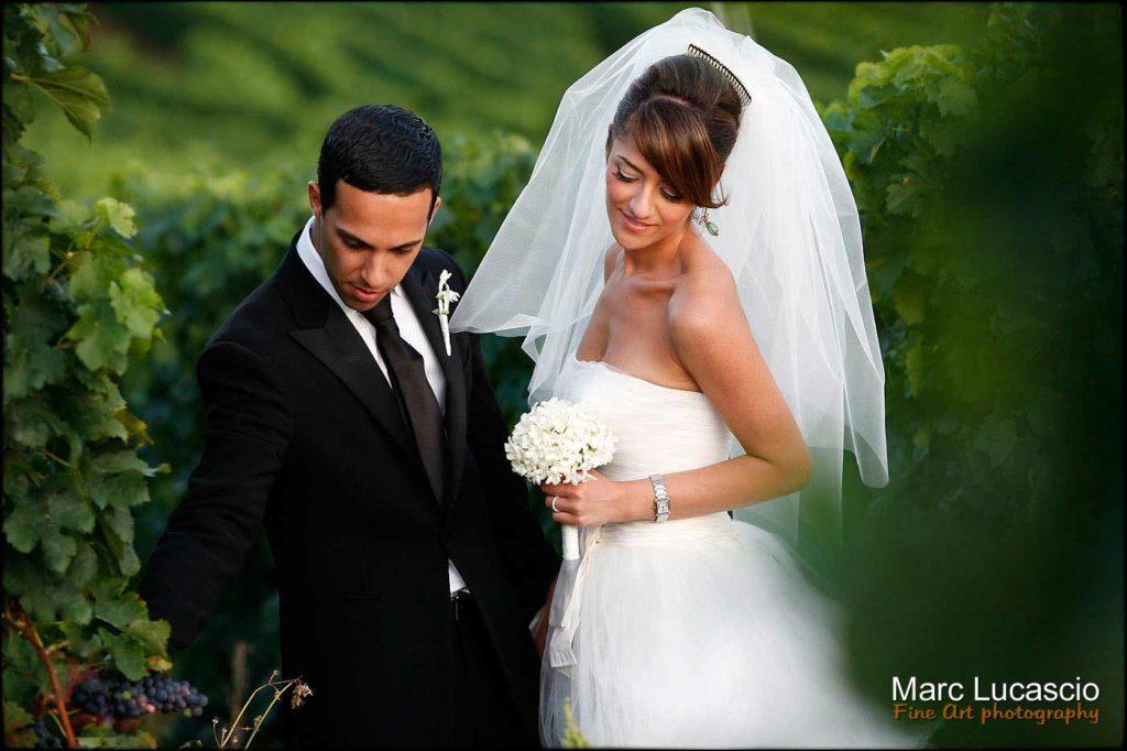 Photo mariage Calvados couple dans les vignes