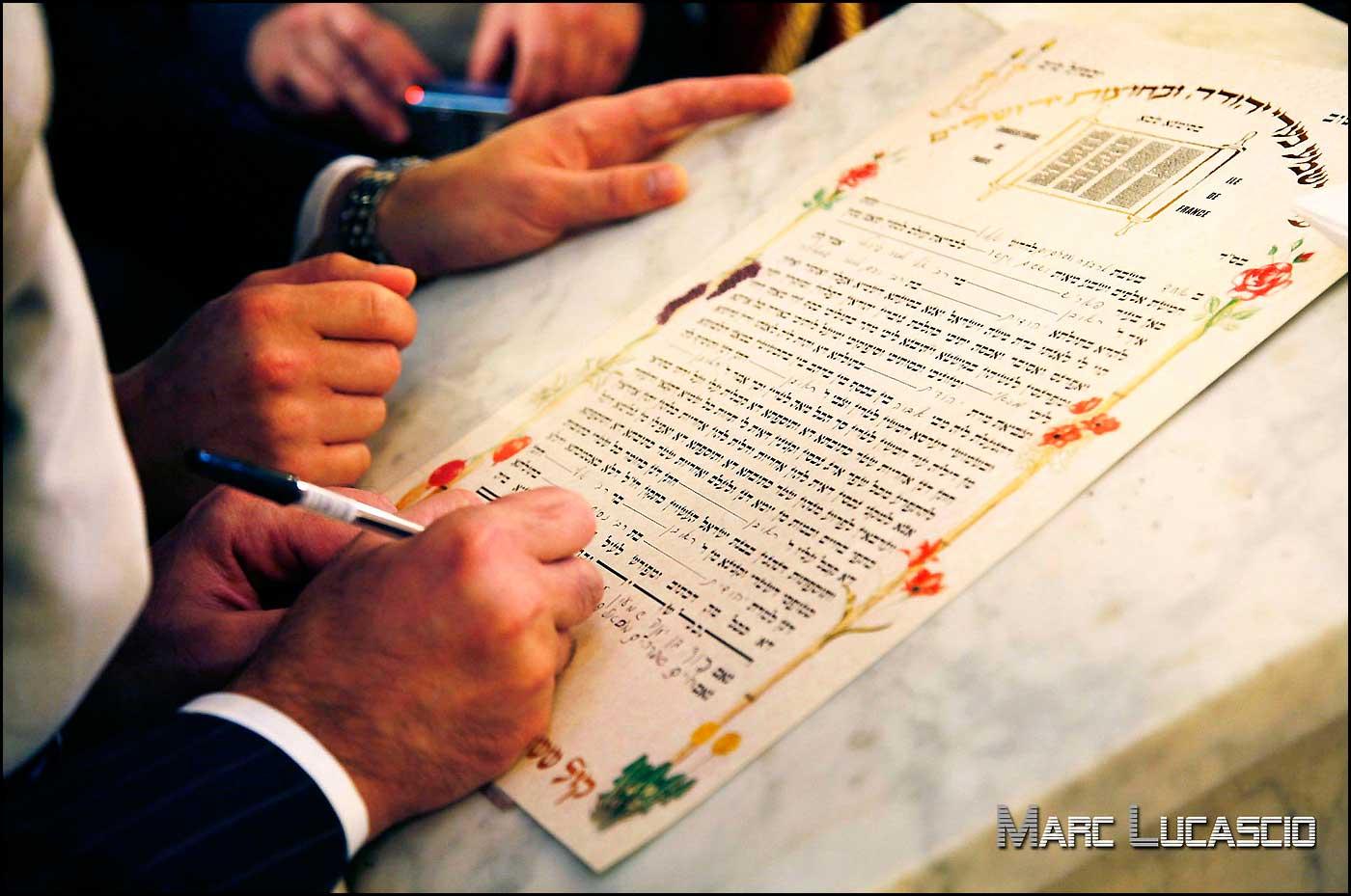 Ketouba mariage hébraique