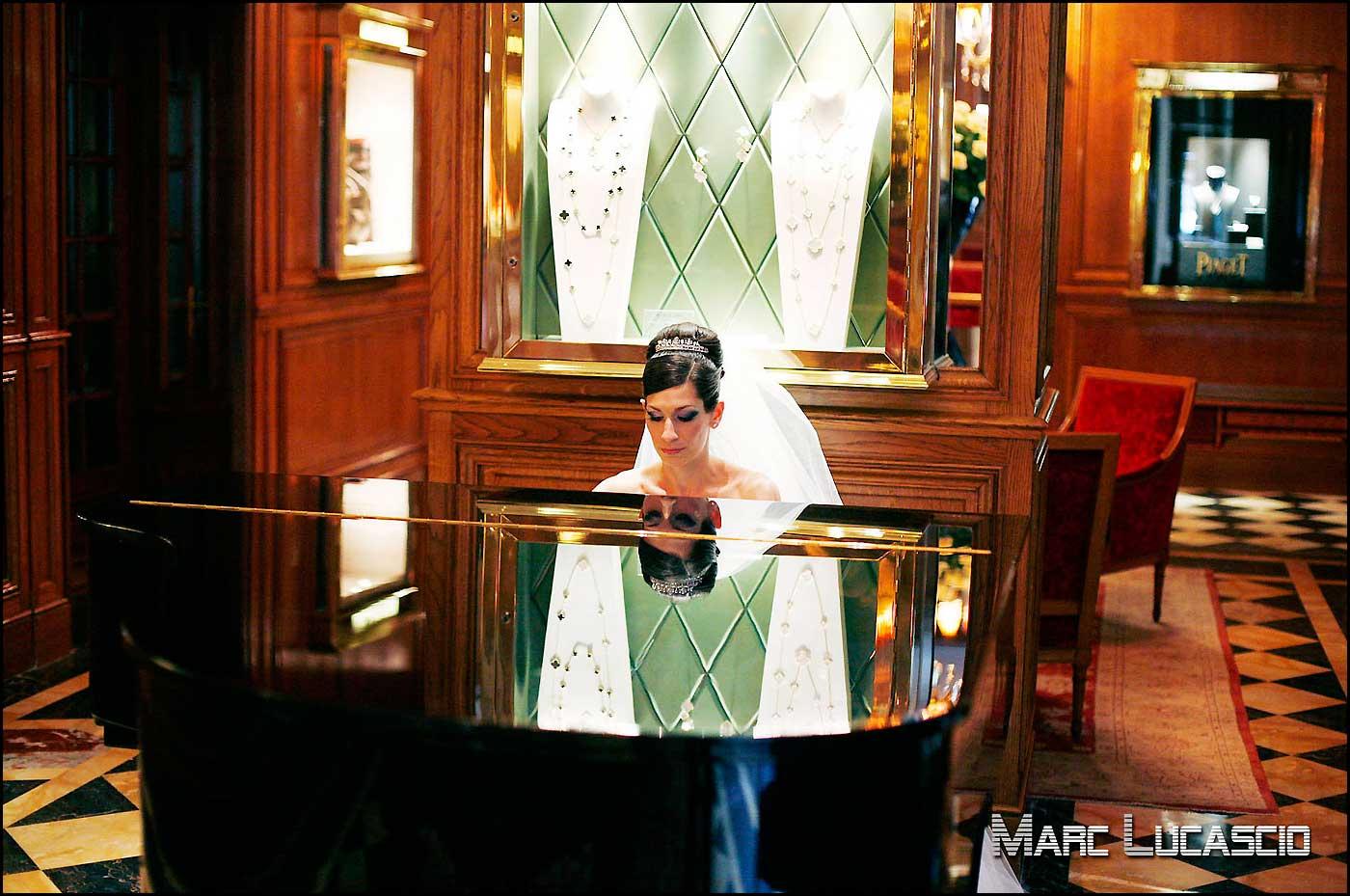 mariée juive piano hôtel le Crillon