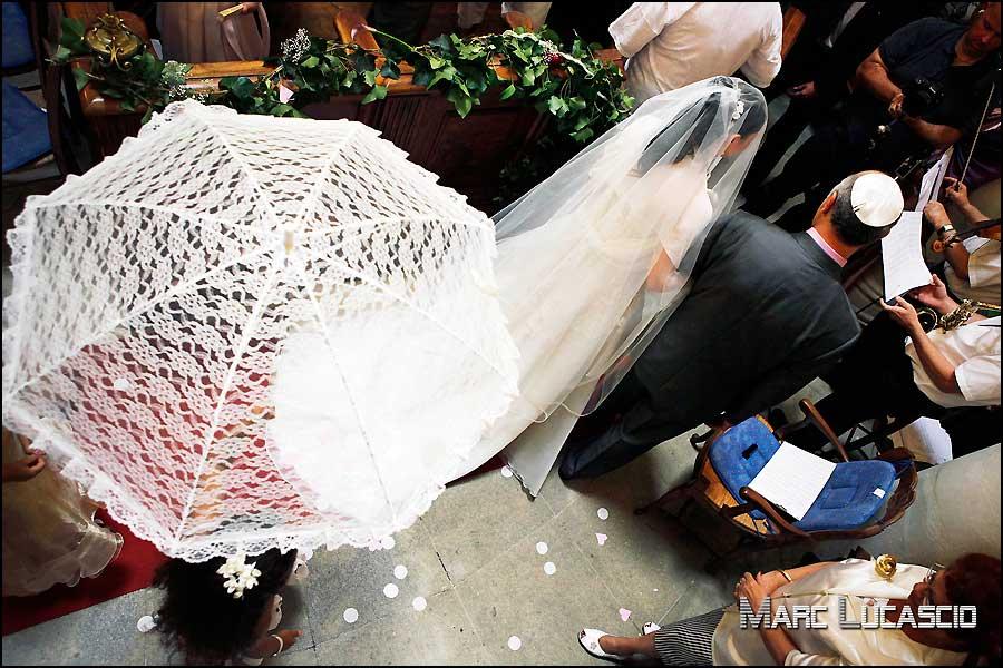 Mariage juif entrée synagogue Avignon