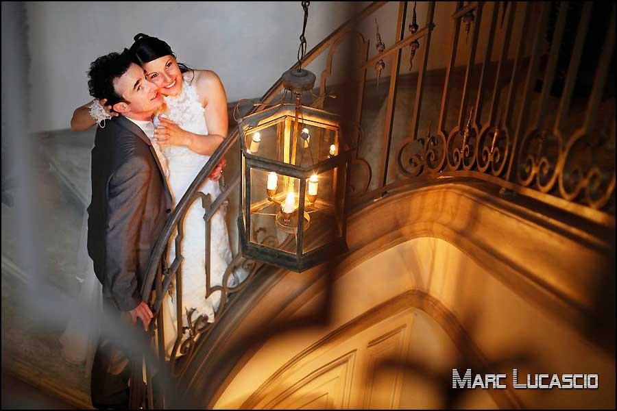 Escalier hôtel la Mirande Avignon