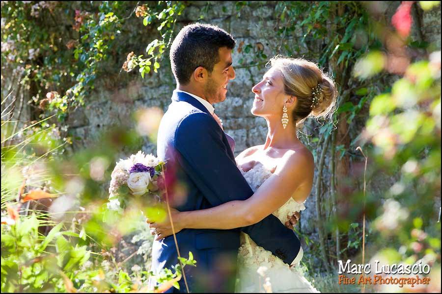 Une photo de mariage non posée