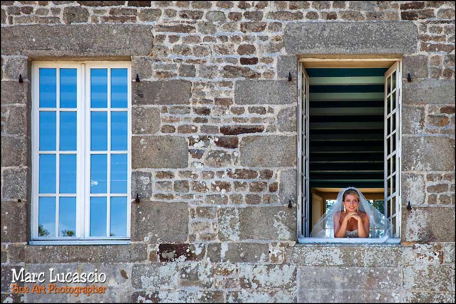 photo mariage fenêtre du château