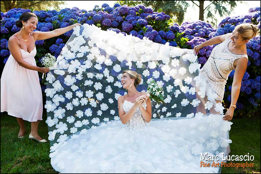 séance photo groupe mariée et témoins filles