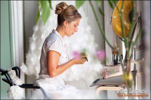 La préparation avec la mariée ou le marié