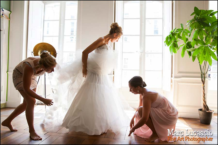 préparation robe mariage juif