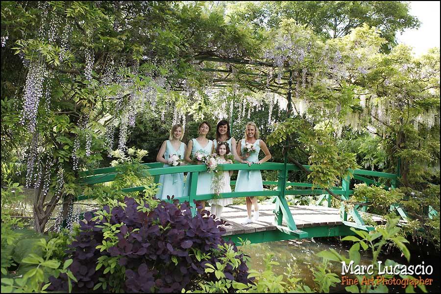 Groupe de fille mariage à Giverny