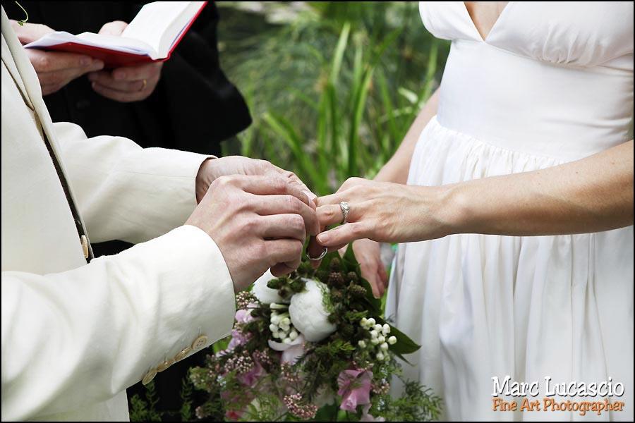 Les alliances du mariage à Giverny