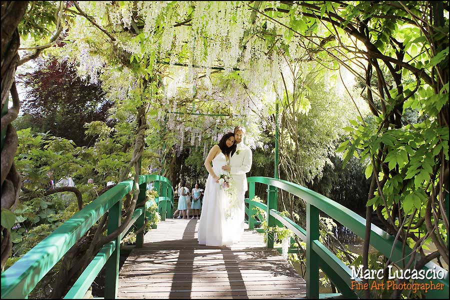Photos mariage sur le Pont Japonais de Claude Monet