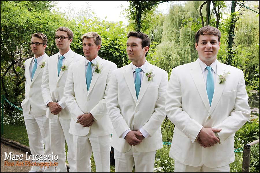 Mariage Giverny témoins garçons