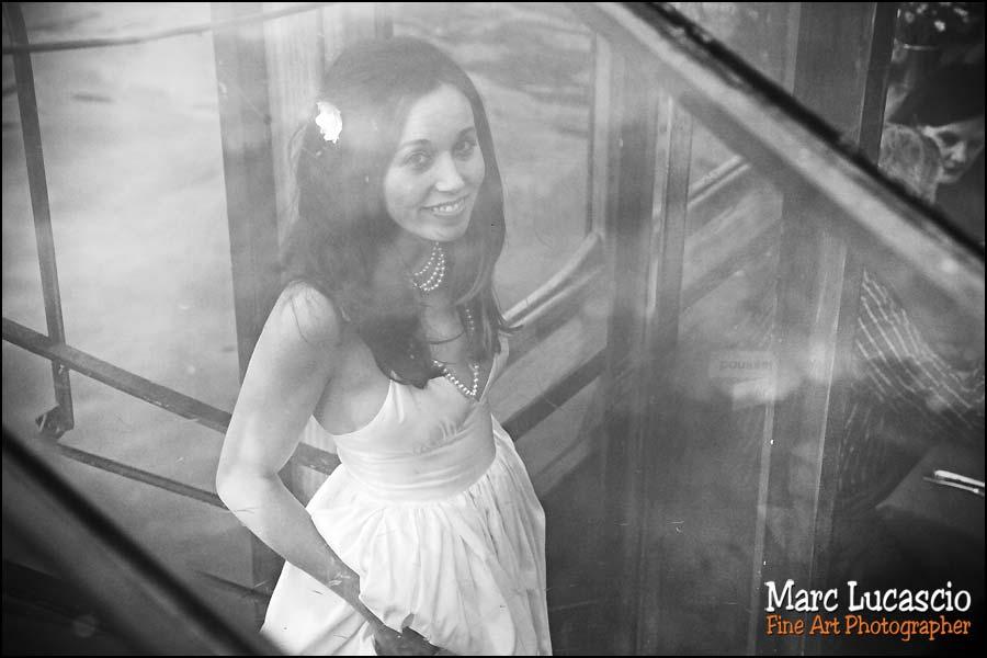 Portrait de la marié dans la péniche