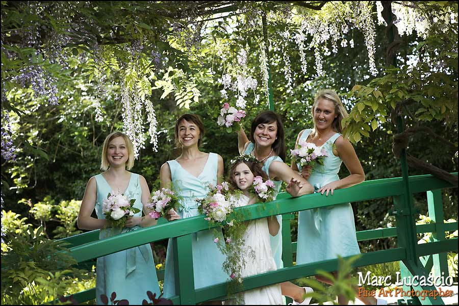 Photo mariage: groupe à Giverny