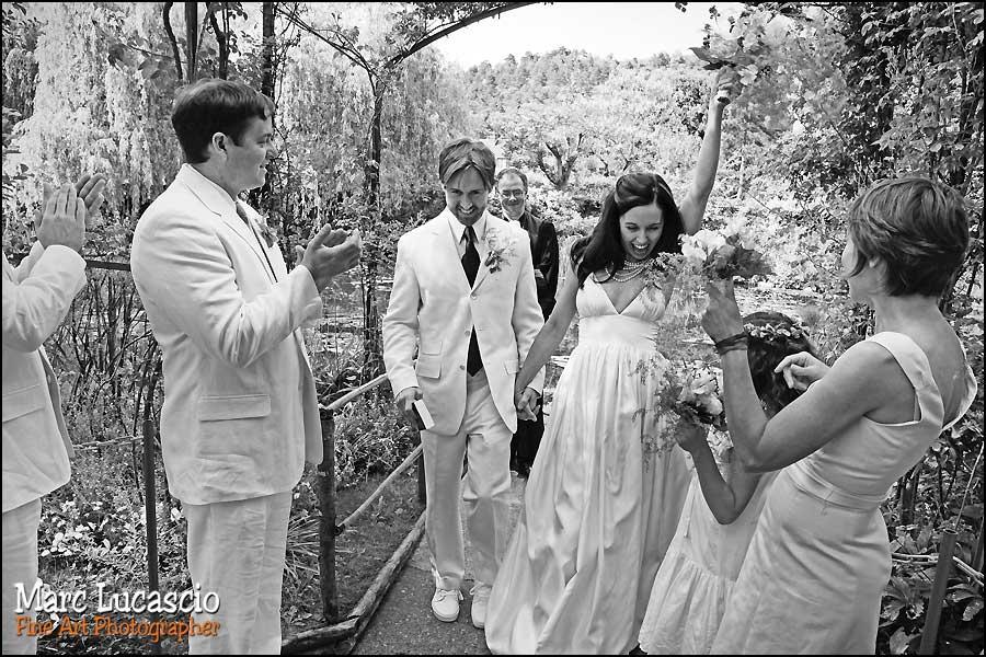 Photo de mariage dans les jardins de Giverny