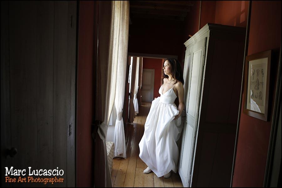 Photographie de la mariée à Giverny