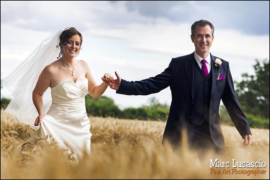 portrait du couple juif dans les blés