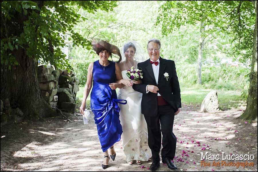 Mariage juif parents et mariée