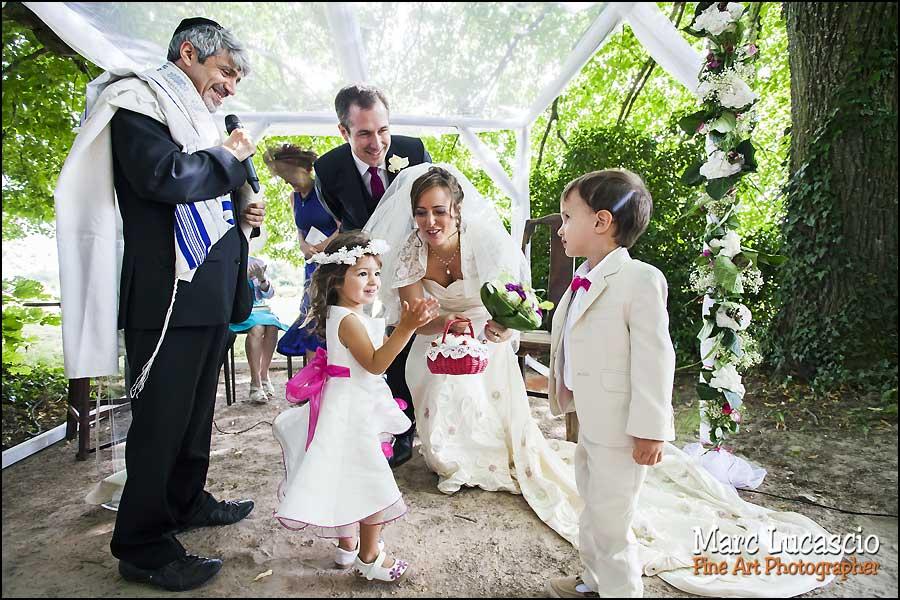 Les enfants du mariage juif au Domaine de Quincampoix