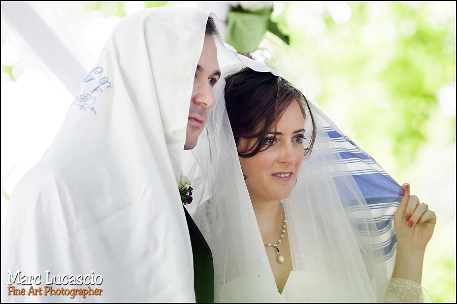 Mariage juif à l'éxterieur au domaine de Quincampoix