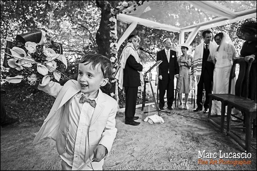 Enfants mariage juif champêtre