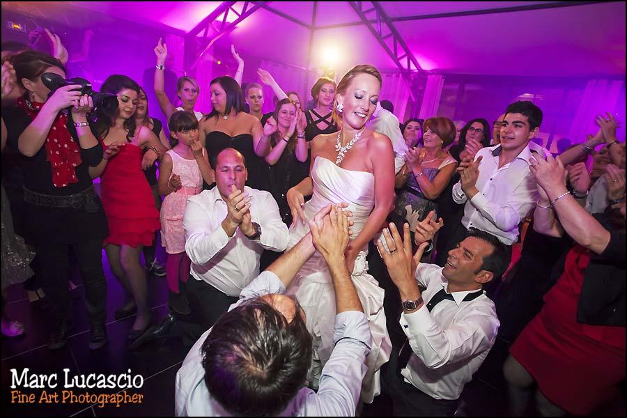 la soirée du mariage juif festive