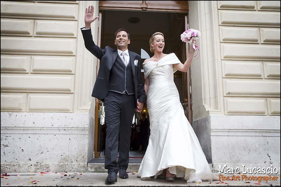 mariage juif sortie mairie