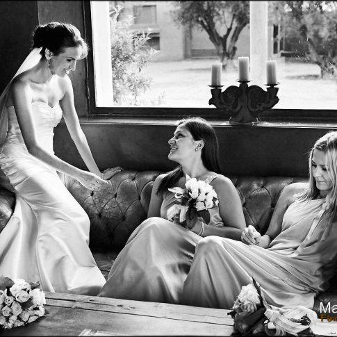 La mariée et ses témoins filles à Marrakech