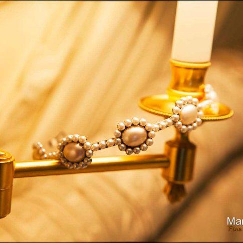 Les bijoux du mariage colliers de perles fines