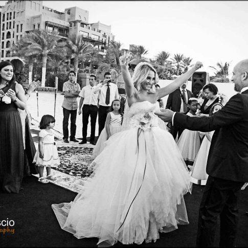 reception mariage sur la plage à Dubaï