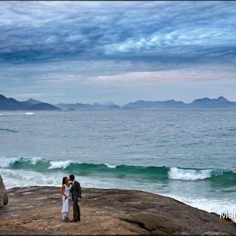 Mariage à Ipanema à rio de Janeiro