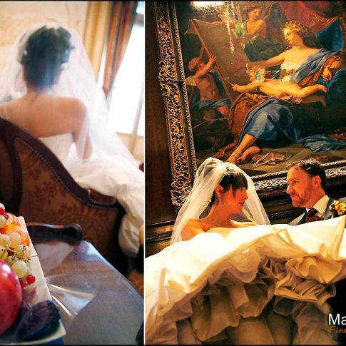 Photographie de mariage à l'hôtel Raphael à Paris