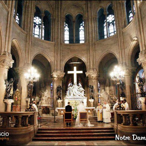 Photographie de mariage à Notre Dame de Paris
