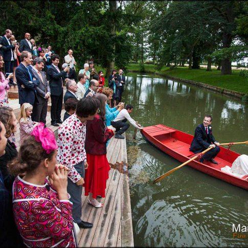 arrivée des mariés en bateau