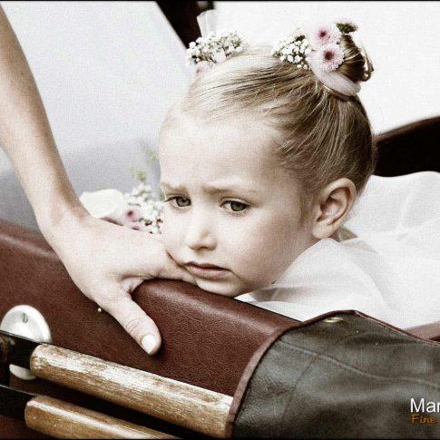 portrait enfant pendant le mariage