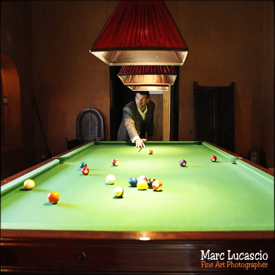 photo mariage marrakech billard