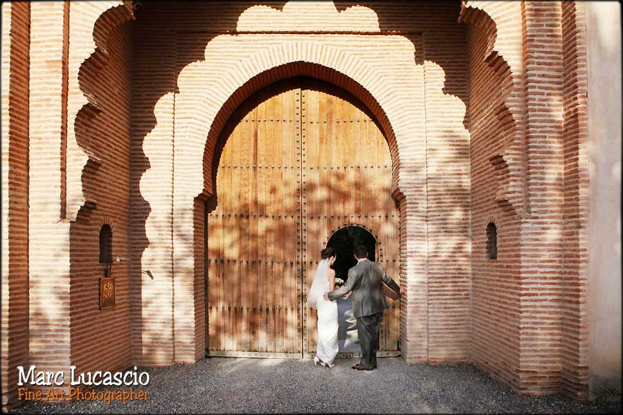 photo mariage marrakech ksar char bagh