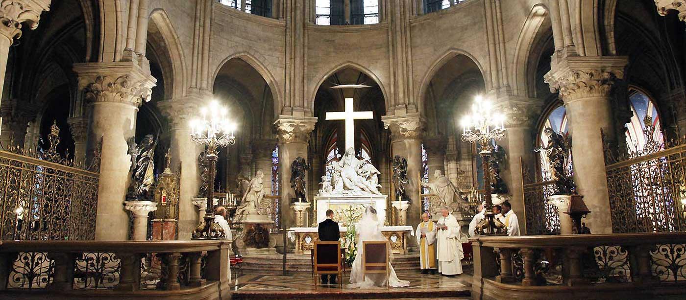 Photos de mariage à Notre Dame de Paris
